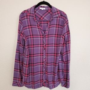 MAURICES Long Sleeves Button Up Tunic Top